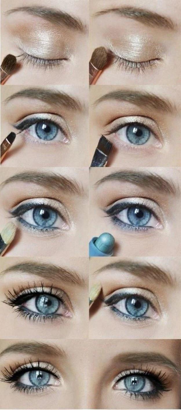 Make Up Blaue Augen Braune Haare