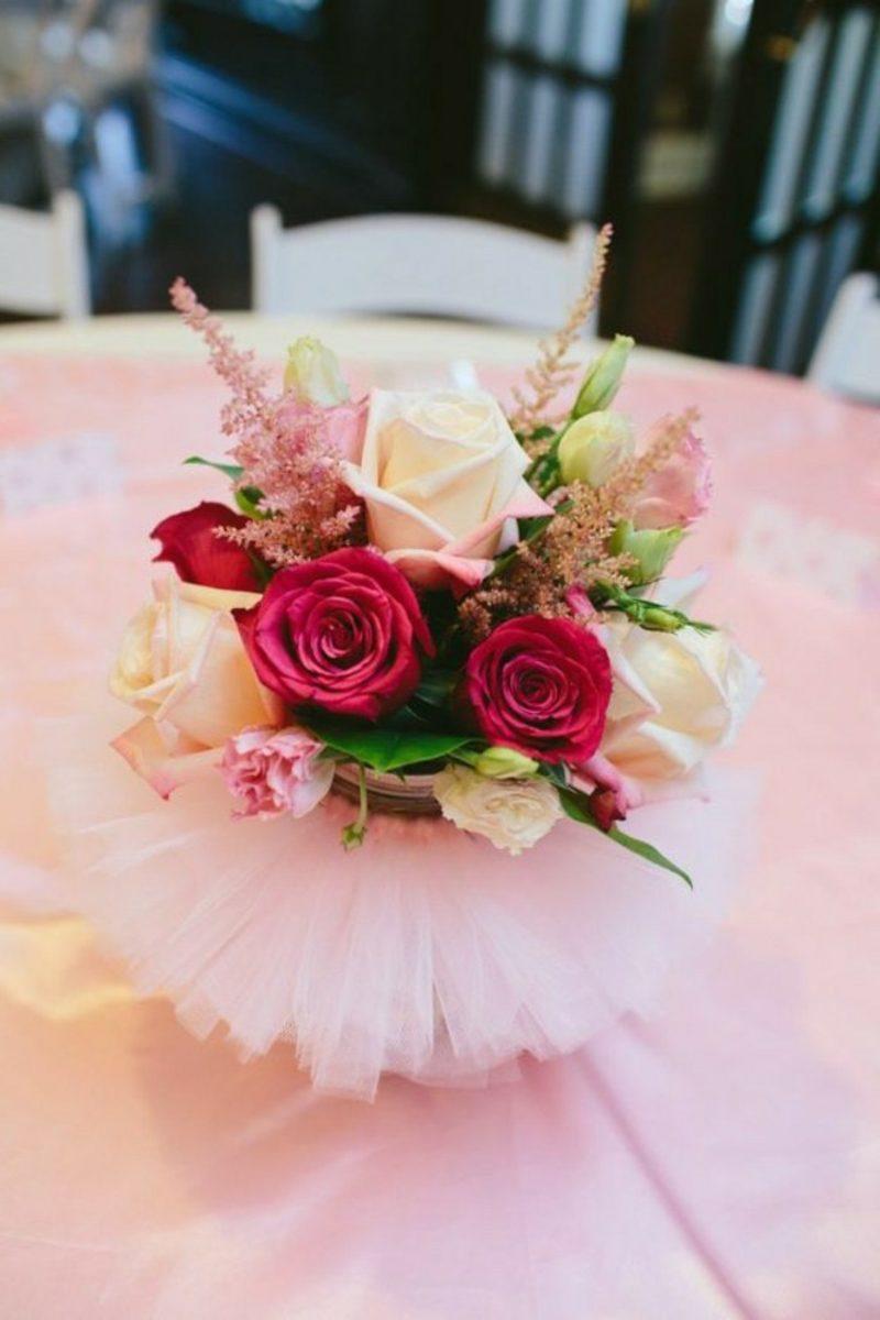 Deko Tisch Taufe Madchen Tischdecke Rosa Mit Ornamenten Und