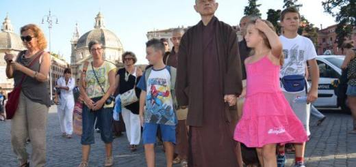 Thich Nhat Hanh a Piazza de popolo
