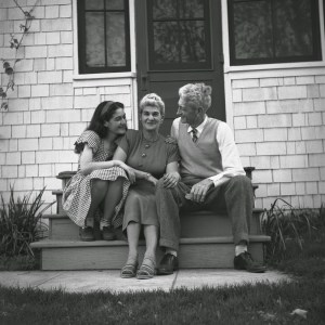 Young Zenkei with her parents, mid 1940s, Davis, CA.