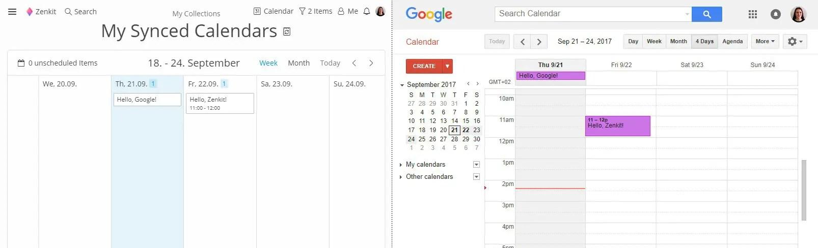 Integrating Zenkit with Google Calendar Zenkit - calender s