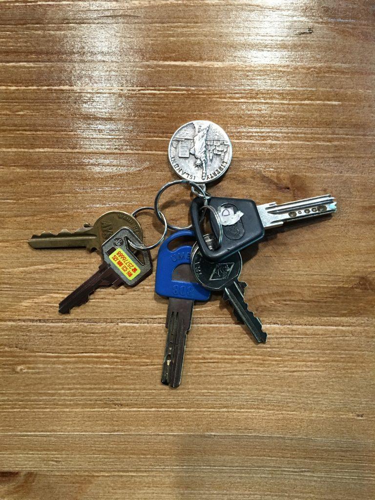 原本凌亂的鑰匙串