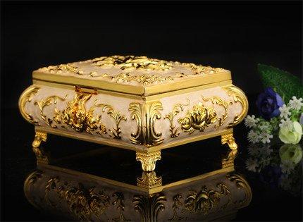 Ornate Antique Finish Gold Silver Copper Platinum