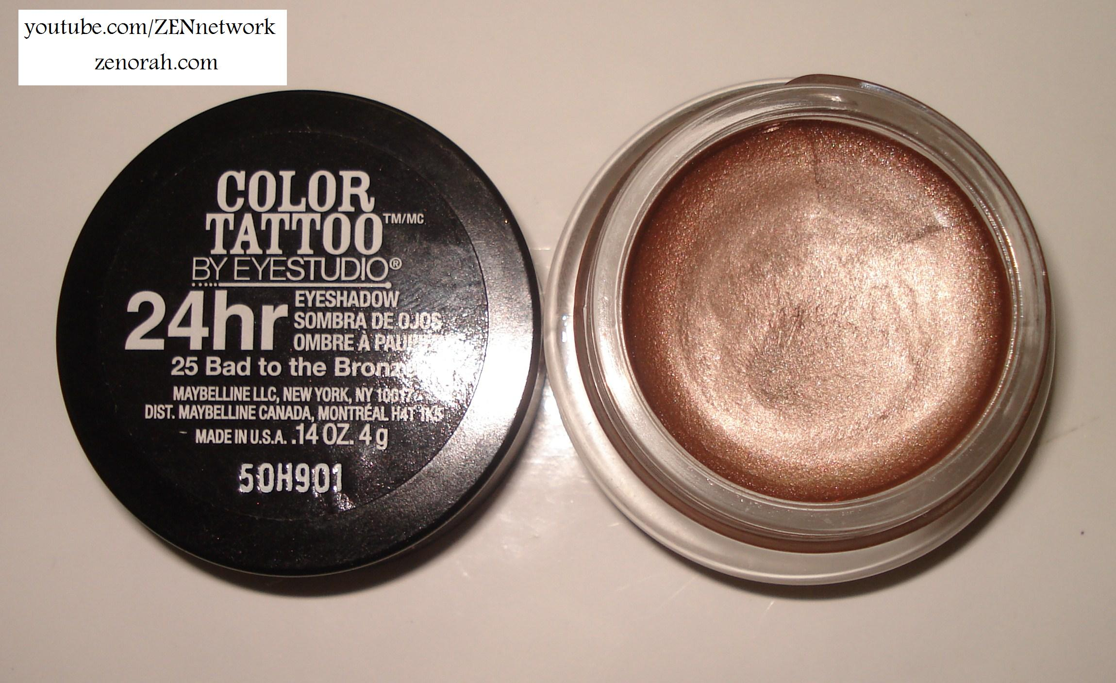Bad 24 Maybelline 24 Hour Colour Tattoo Bad To The Bronze Zenorah