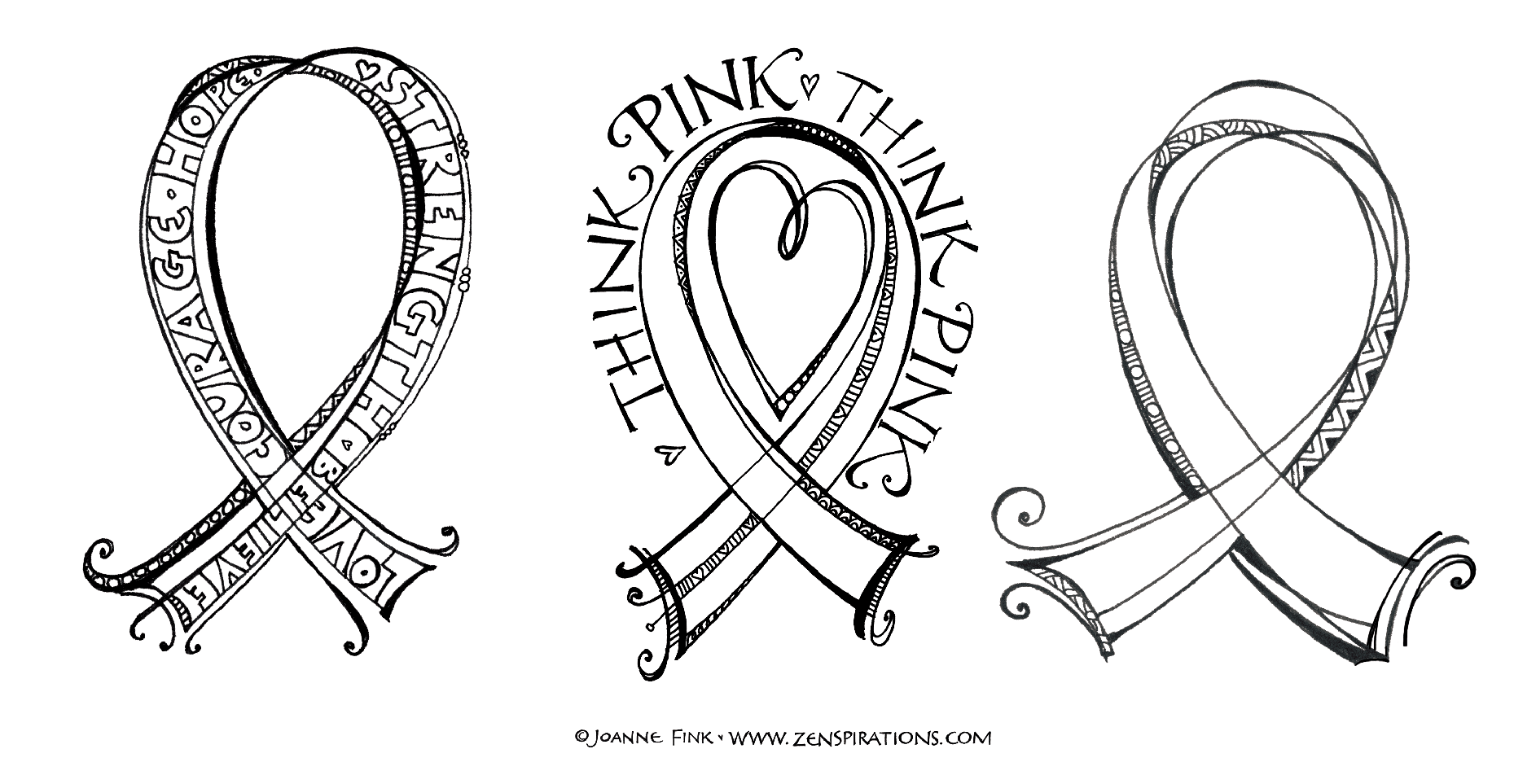Click here to download the zenspirations r pink ribbon printable coloring page when you get to the page right click the image to save a copy