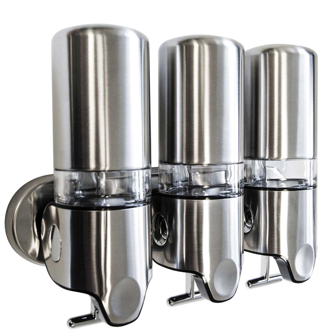 Soap And Shampoo Dispensers For Showers Brushed Stainless Steel Shower Dispenser Brushed Zepfix