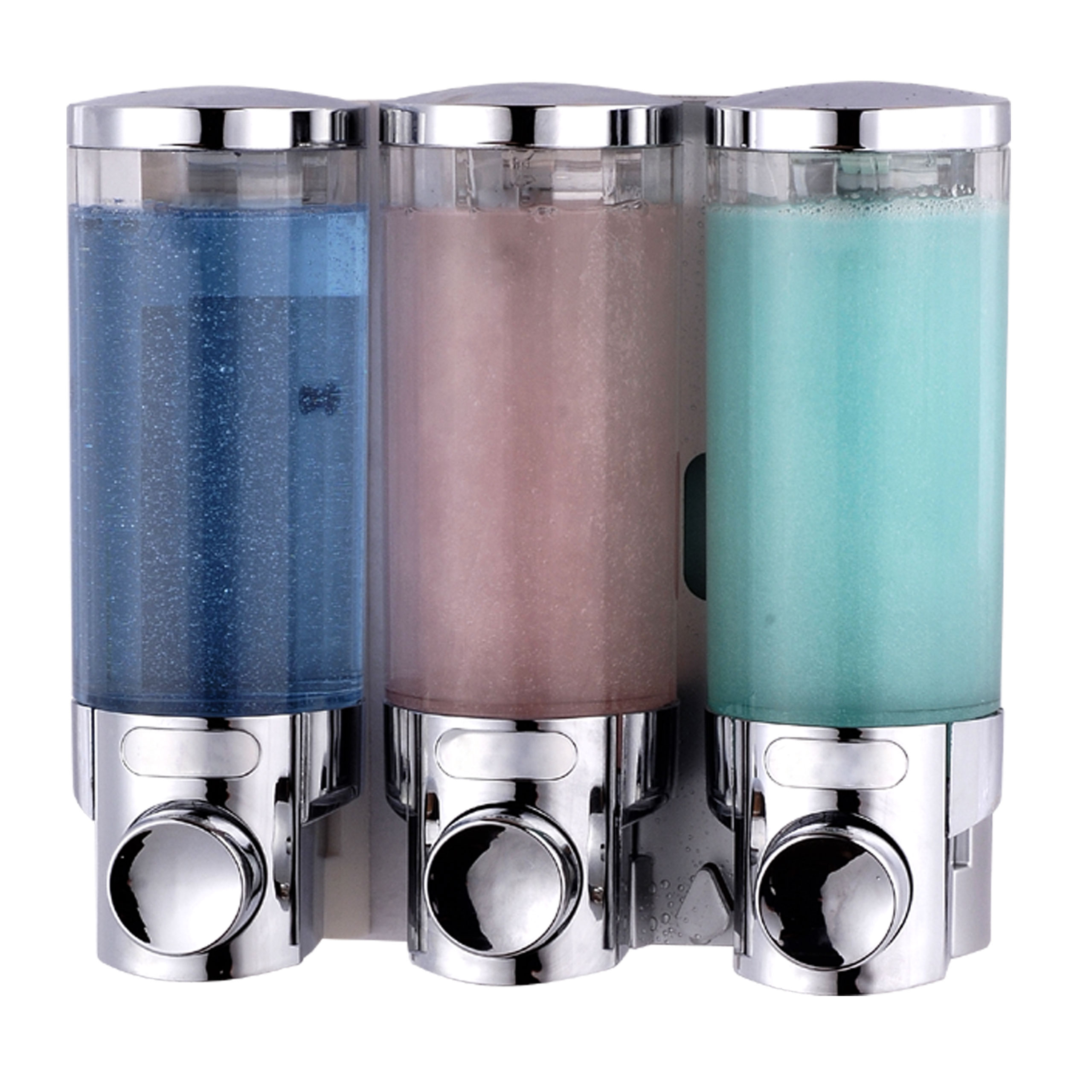 Soap And Shampoo Dispensers For Showers Transparent Shower Soap Dispenser Triple Abs Plastic