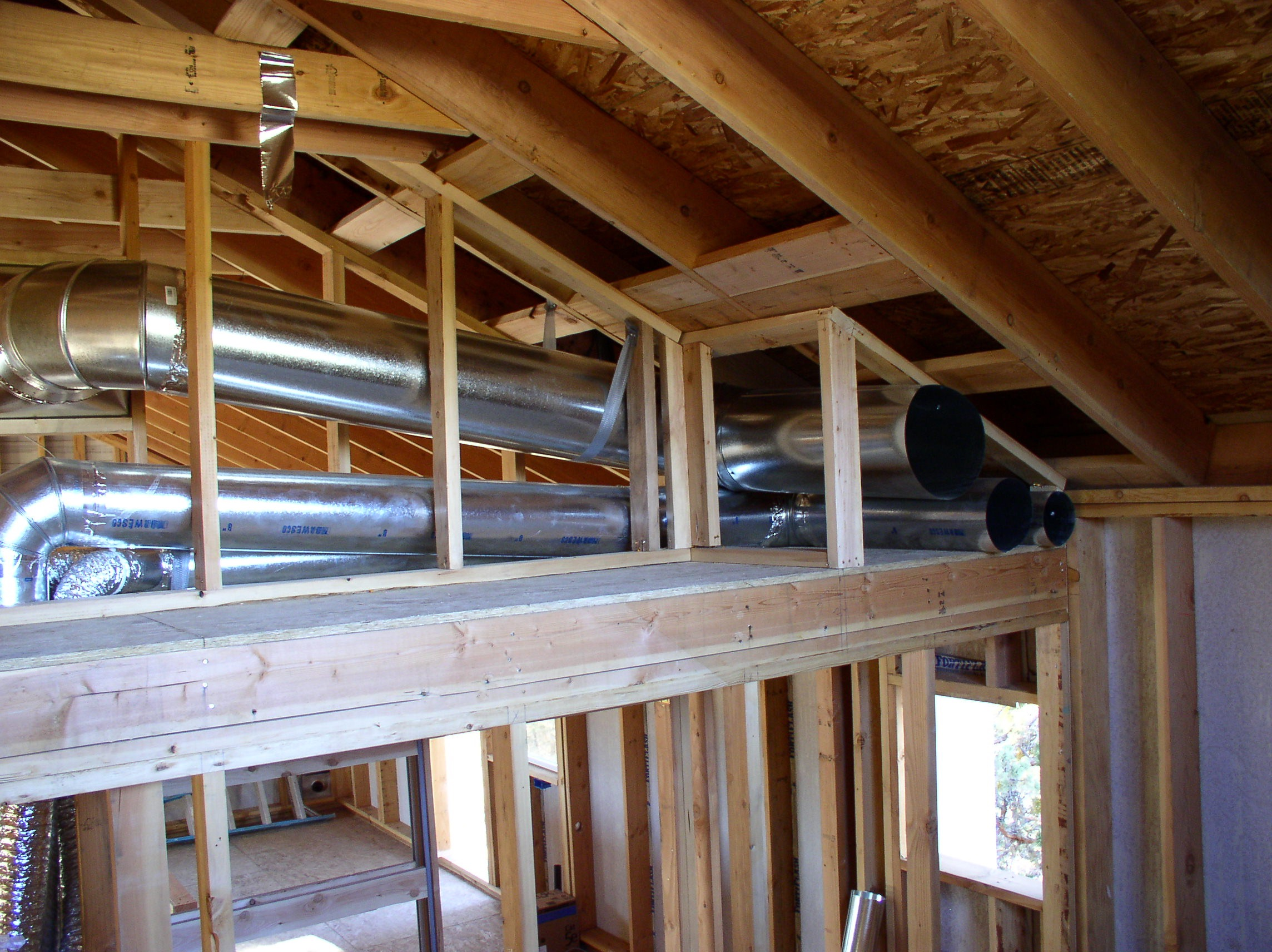 Garage Attic Air Conditioner Place Ducts Inside The Building Envelope Zero Energy Project