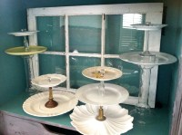 Cake Stands made from Vintage plates, candle sticks, and ...