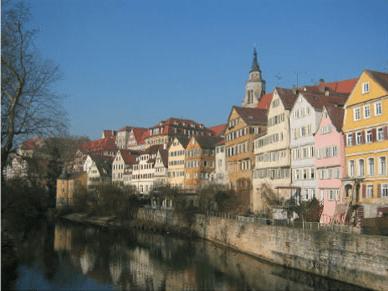 Fotografia Original do rio em Tubingen, Alemanha.