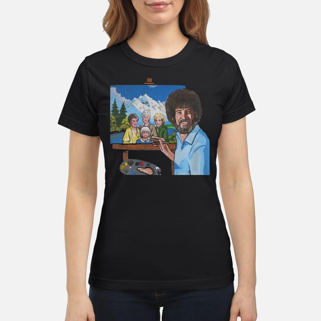 Official Bob Ross Painting The Golden Girl Shirt Hoodie Tank Top And Sweater