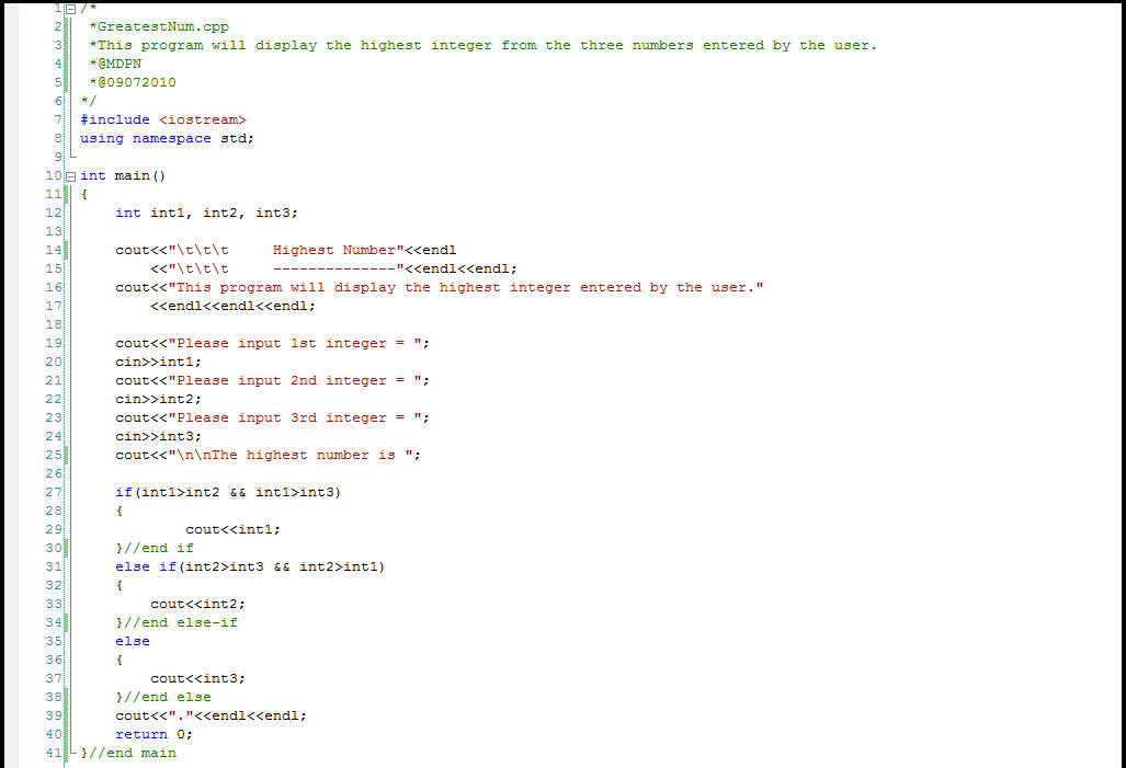Example of C code like I have written Things from my 40 year - profile format