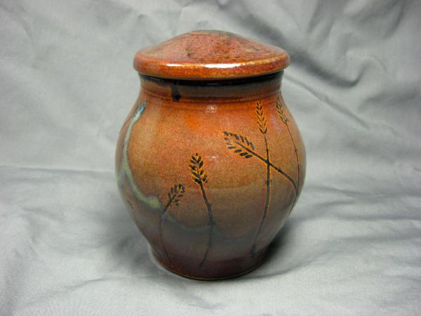 Ceramic Jars With Lids 101122 B Wheat Design Jar With Lid Carl 39s Pottery