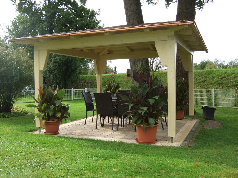Holzpavillon Selber Bauen Flachdach