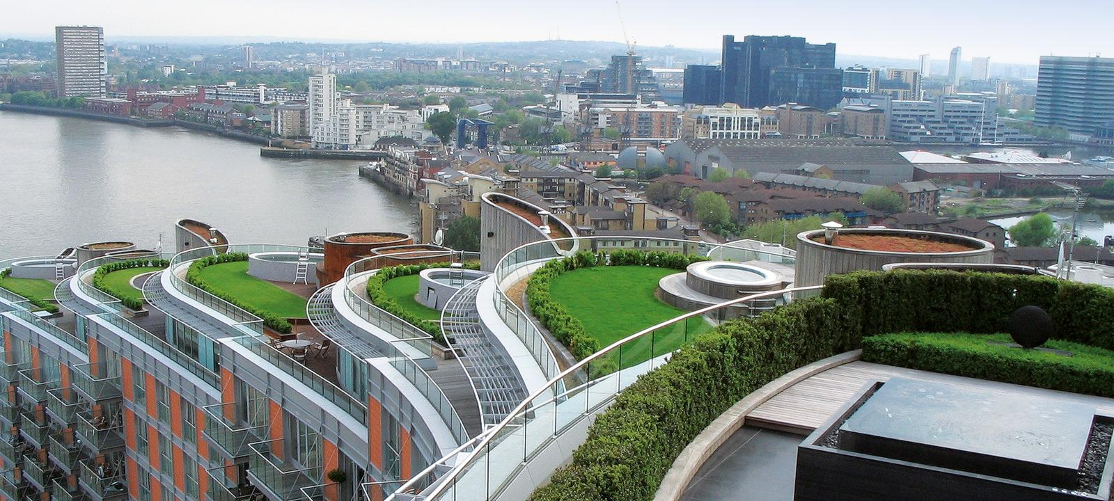 Roof Gardens History Design And Construction Pdf New Providence Wharf, London | Zinco Green Roof Systems