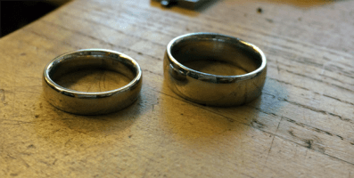 This Couple Wanted Their Wedding Bands To Be Special. So They Did THIS... And It's Awesome.