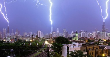 You Won't Believe What This Videographer Captured Above The Chicago Skyline. It's Electrifying.