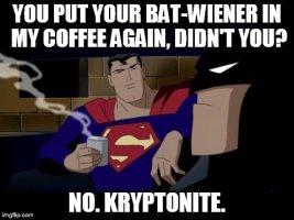 Batman Superman Coffee Break