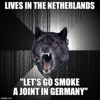 My friend lives near the German border..