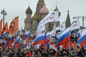 Thousands March In Moscow For Murdered Opposition Leader