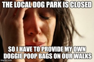 The dog park is closed for 'renovations' for 3 months