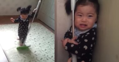 Mom Asks Her Daughter For The Mop Back And She Has The Most Hilarious Reaction