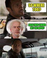 The Rock Driving Back To The Future