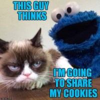 Better go back to Sesame Street Cookie Monster...