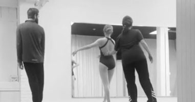 His Daughter Was Participating In Her Normal Ballet Class, But Today, Dad Joined In!