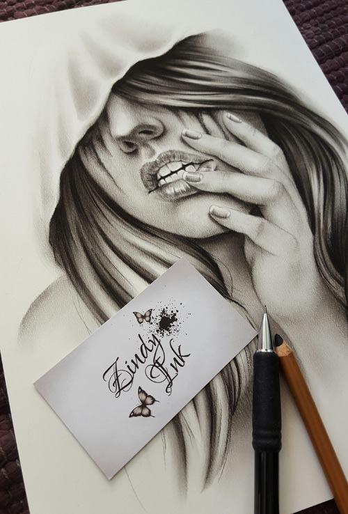 Broken Heart Girl Crying Wallpaper Designs Zindy Ink Tattoo Artist Illustrator