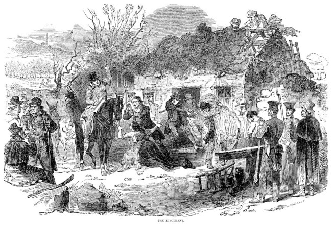 """The Ejectment,"" The Illustrated London News, Dec. 16, 1848. See more images at the Views of the Famine website."