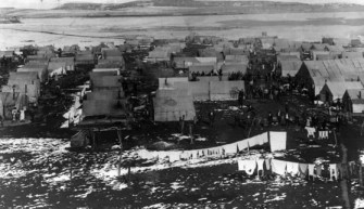 The Ludlow Tent Colony, before the massacre, consisted of about 200 tents.