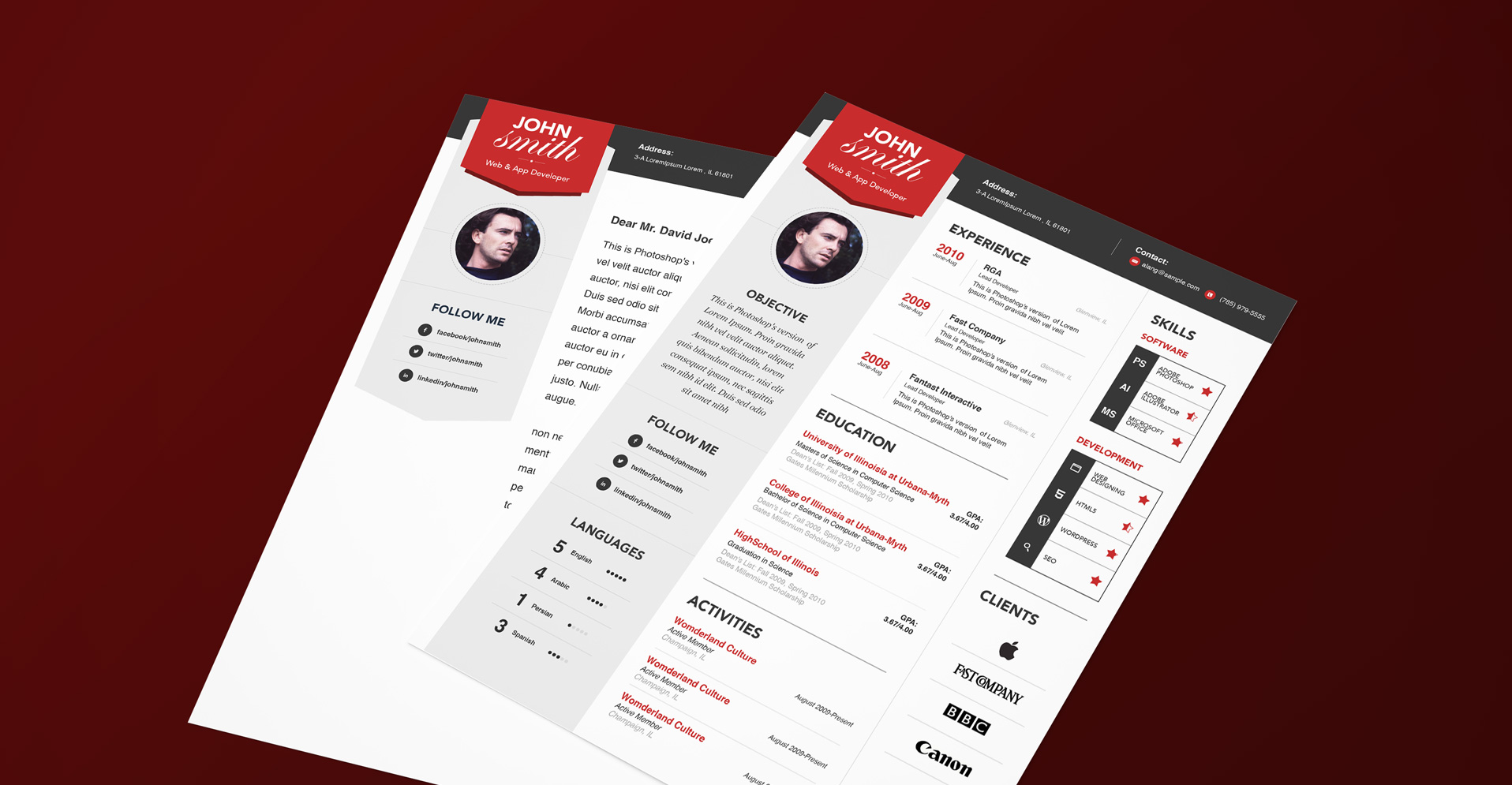 resume layout simple