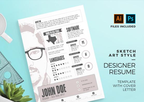 Graphic Designer Resume Template - PSD  AI ZippyPixels