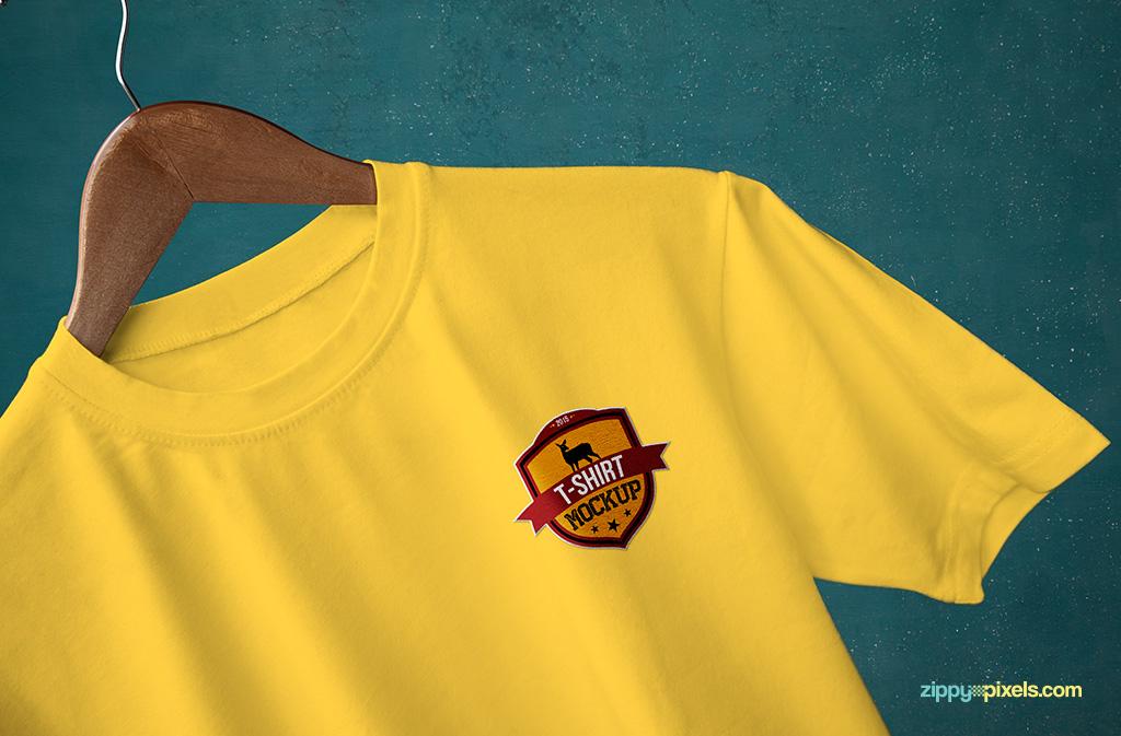 Round Neck T Shirt Mockups Free PSD Download ZippyPixels