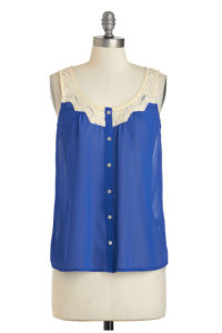 Modcloth colorful tank top blue