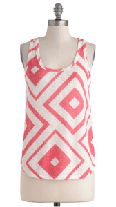 Modcloth colorful tank top red