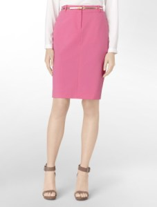 Colorful pencil skirt - pink