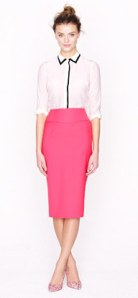 Summer Office-Attire:  Colorful pencil skirt