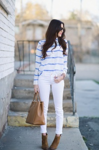 Style Inspiration:  White Jeans
