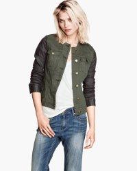 h&m twill jacket
