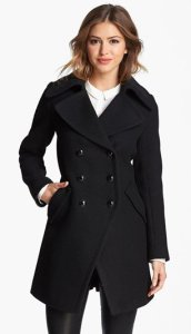 Trina Turk Double Breasted Officer Coat NAS