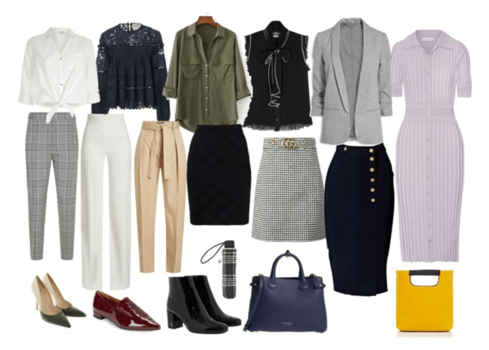 Work Capsule Wardrobe Inspiration For Fall