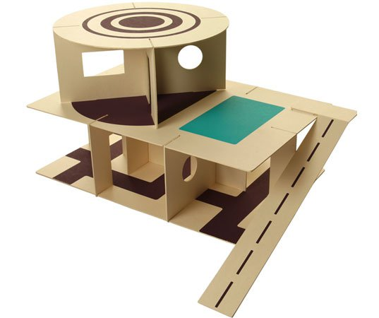 Carton chic – domek z kartonu
