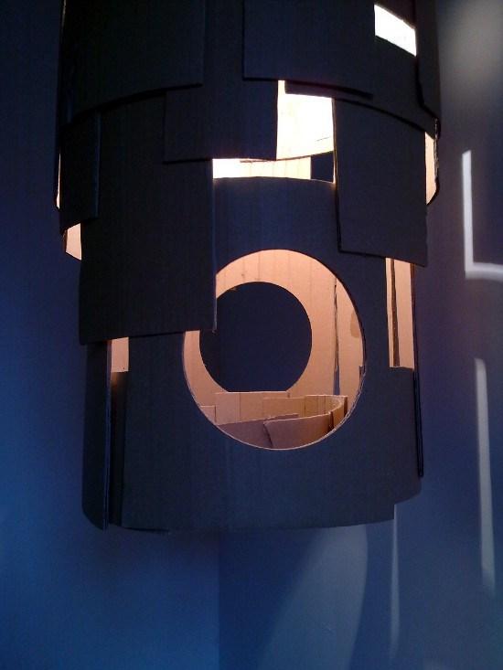 Lampa Zamek z tektury / Cardboard lamp Castle