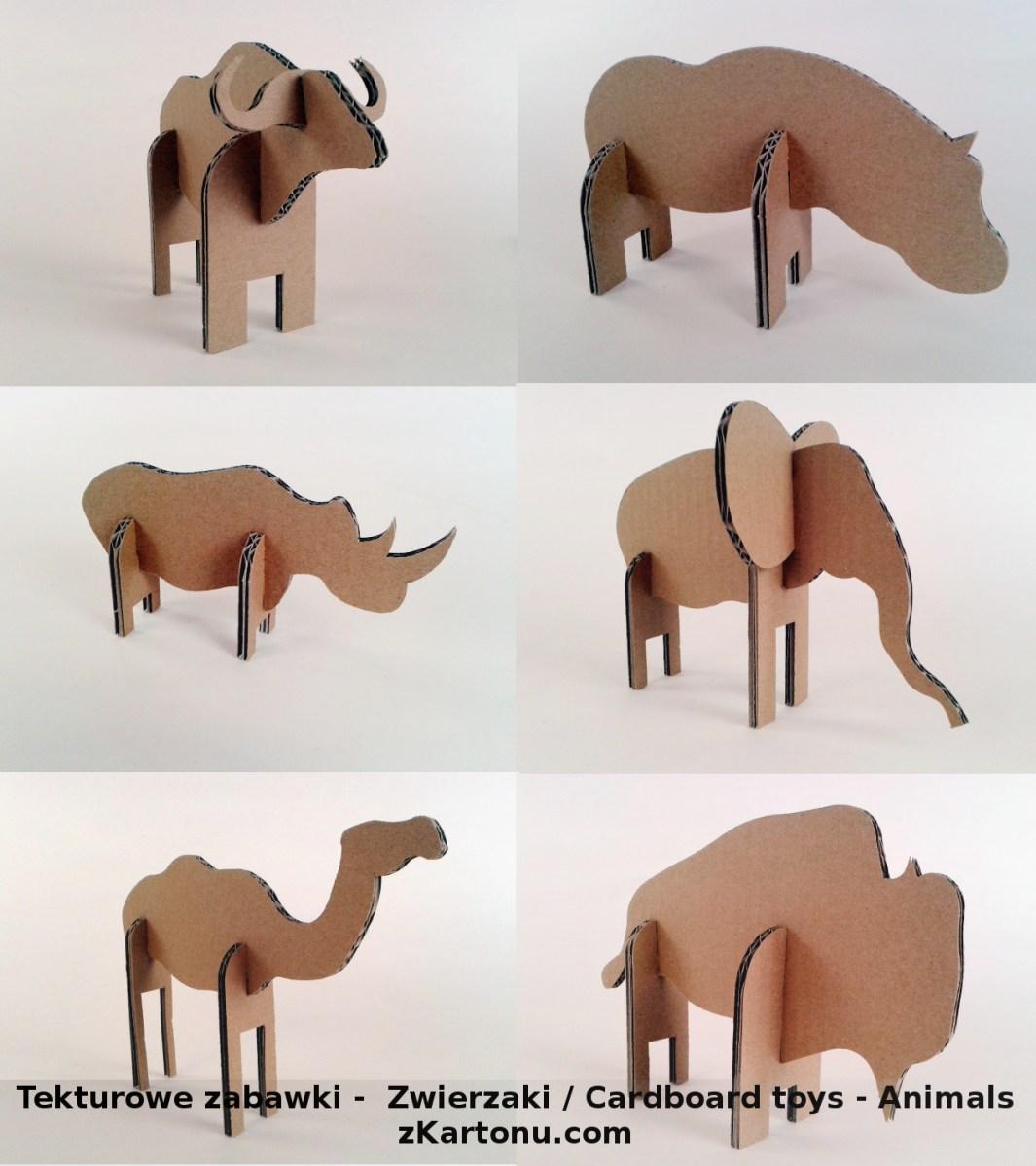 Tekturowe zabawki -  Zwierzaki / Cardboard toys - Animals