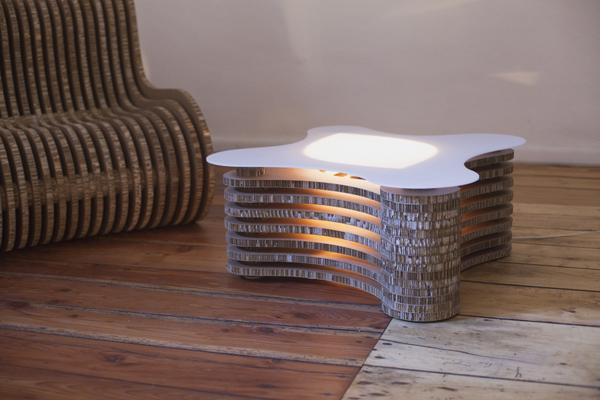 Podświetlany stolik