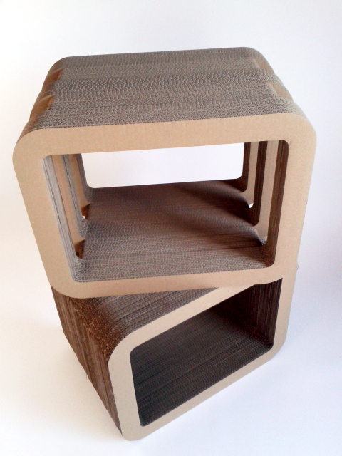 Stoliki lub półki meble z tektury  / Table or shelfs from  cardboard furniture