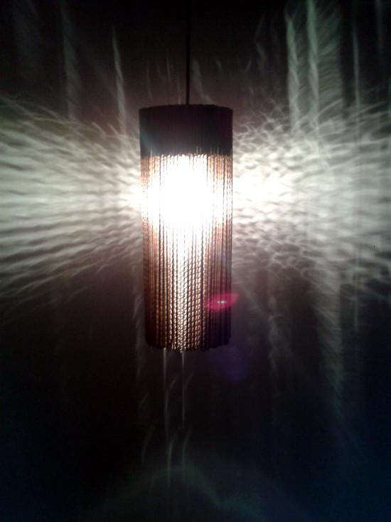 Tekturowe słoiki – lampa wisząca / Cardboard jar lamp – celling lamp