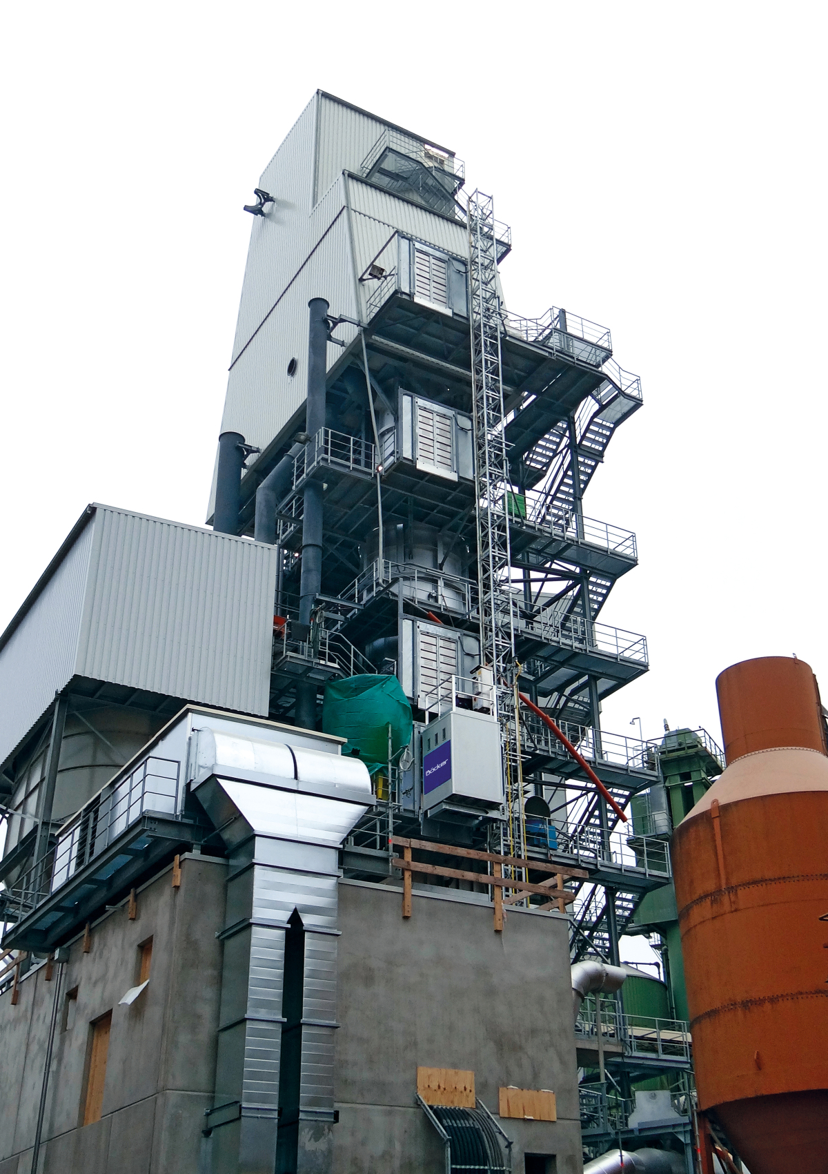 Böcker Werne Peak Performance For The Lime Kiln Service Lift On Constant Duty